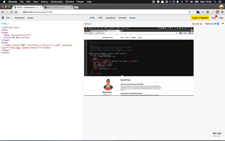 Stream your Desktop to HTML5 Video Element · Minko Gechev's blog